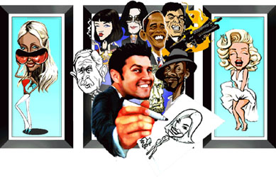 caricature artist michael