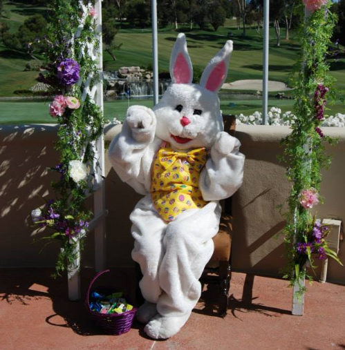 Easter Bunny at the Marbella Country Club